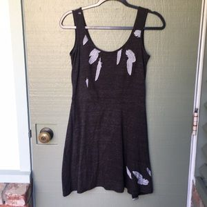 GREY FEATHER DRESS- size small